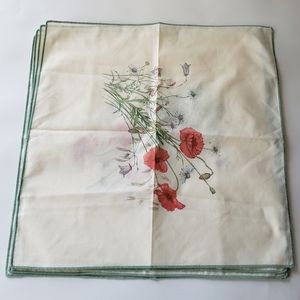Floral cloth napkins farmhouse 4pcs spring nwot